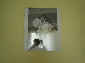 Svatební fotka v ložnici
