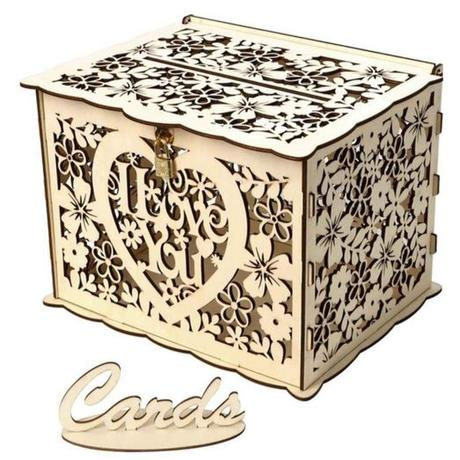 Dřevěná schránka na svatební přání a obálky - Obrázek č. 1