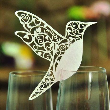 Dekorace na skleničky Ptáci 100 ks - Obrázek č. 1