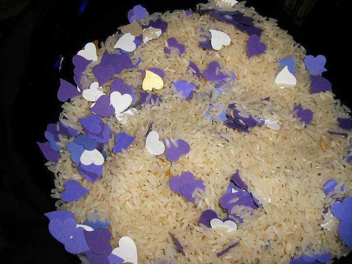 Já + ty = my tři :-) - rýže se srdíčky