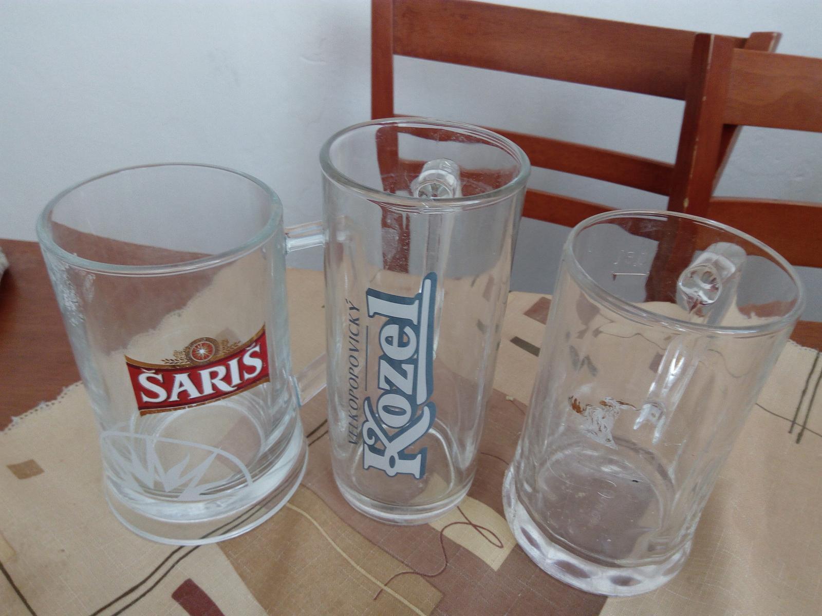 pivové poháre Šariš + Kozel - Obrázok č. 1