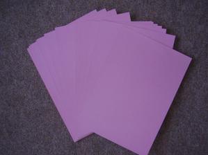 Papíry na výrobu jmenovek, jen bych zvolila jinou barvičku, co třeba oranžová