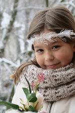 Sněhurka (zimní věneček do vlasů)