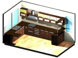 takto nejako  bude vyzerať naša kuchyňka