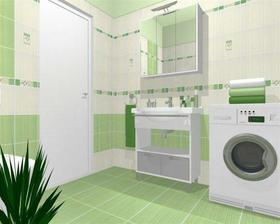 vizualizace naší spodní zelené koupelny