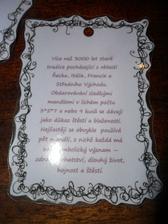 detail kartičky  s významem  svatebních mandlí