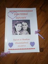snad svatební noviny  pobaví naše milé hosty..   :))))  a zůstanou jim jako památka na náš den :))))
