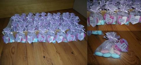 Balíčky se svatebníma mandličkama včetně jmenovek hotové...