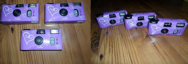 jednorázové fotáčky na ksichtíky a momentky..   jsem sama zvědavá kolik fotek z toho bude použitelných   ale za to nepětí to stojí ha haaaaaaaa   :)))))