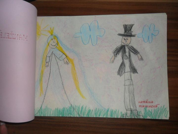 Nádherné přání od dětí ze školky od Davídka - tohle jsme prý my dva   :)))