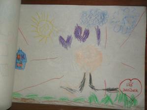 tohle maloval náš dabídek je to prý srdíčkový pán   a ty čáry okolo je prý  blesk od Foťáku ha ha