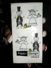 svatební kapesníčky na zkoušku...   a líbí, takže příště objednám už zbytek :))