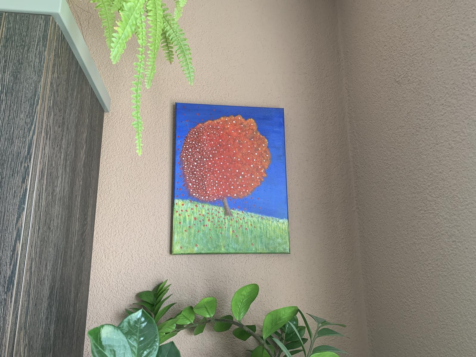 Obraz farebný strom abstract - Obrázok č. 1