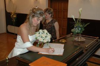 Podpis, bohužel fotka s podpisem ženicha nevyšla