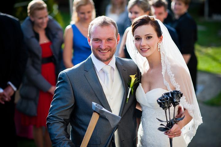 Eliška{{_AND_}}Miško - jeden zo svadobných darov, od nášho kamaráta, umeleckého kováča :)