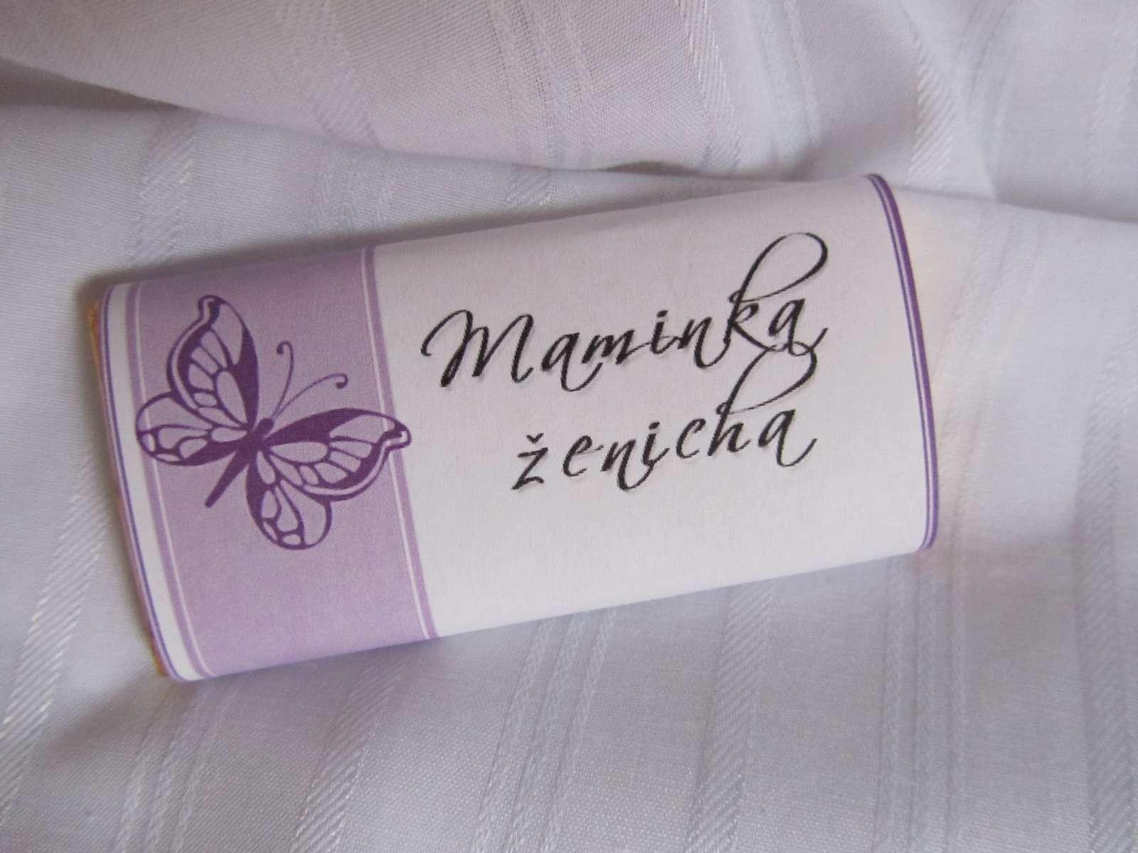svatební čokoládové jmenovky na svatební stůl - Obrázek č. 2