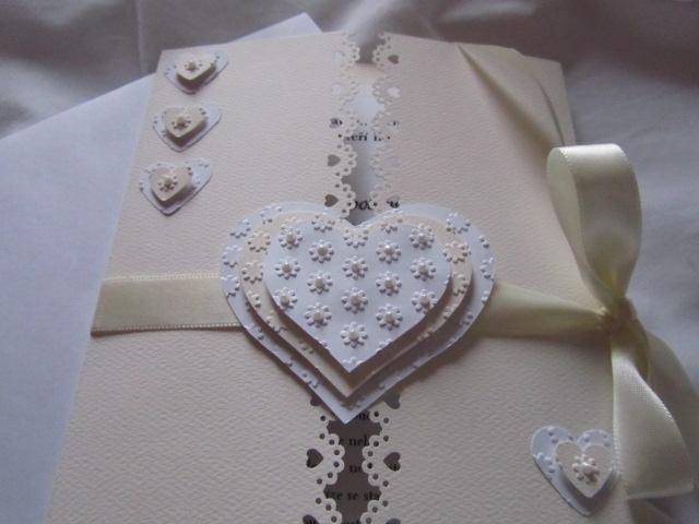 Svatební blahopřání- Srdíčka- Ivory, champagne 1. - Obrázek č. 2