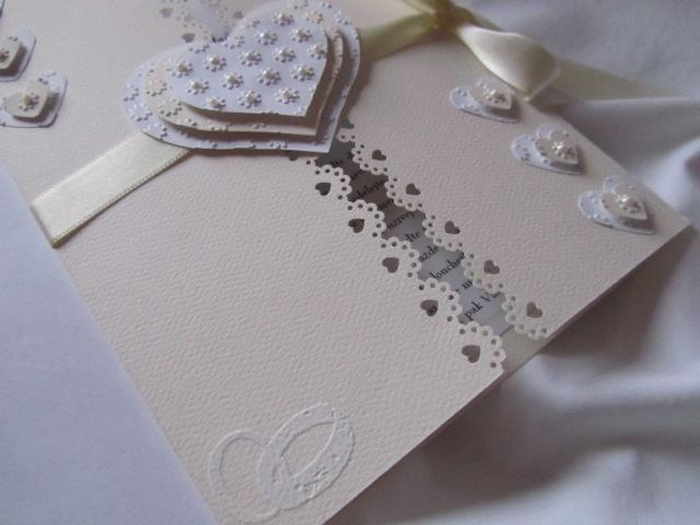 Svatební blahopřání- Srdíčka- Ivory, champagne 1. - Obrázek č. 3