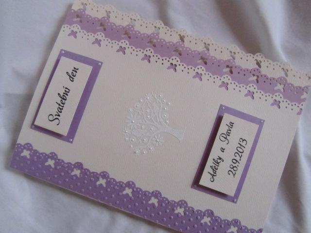 Svatební desky- butterfly Ivory, champagne lila - Obrázek č. 1