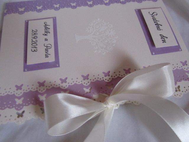 Svatební desky- butterfly Ivory, champagne lila - Obrázek č. 4