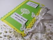 svatební kniha hostů- zeleno žlutá,