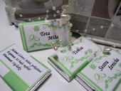 svatební čokolády-jmenovky,