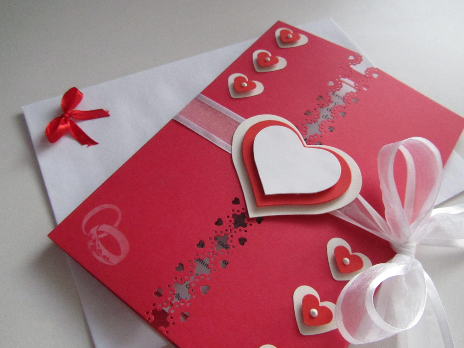 svatební blahopřání- SRDÍČKA- červené - Obrázek č. 1