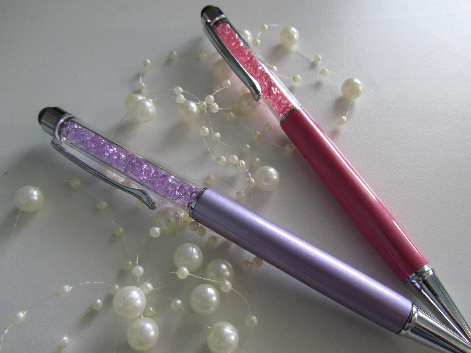 luxusní propiska s barevnými krystaly 2v1 - Obrázek č. 1