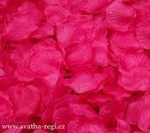 Plátky květů tmavě růžové-250ks,