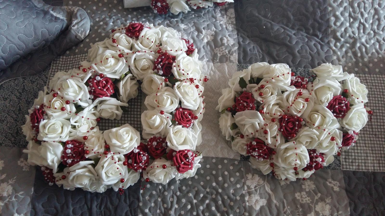 Bielo-bordová dekorácia - Obrázok č. 3