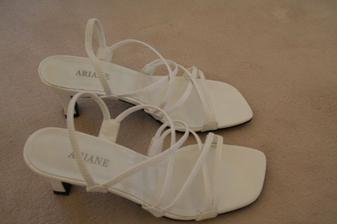 tak tohle jsou moje botičky, které mě ponesou do svazku manželského