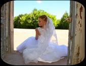 Romantické svadobné šaty so závojom, 38