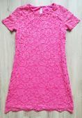 růžové krajkové šaty, 38