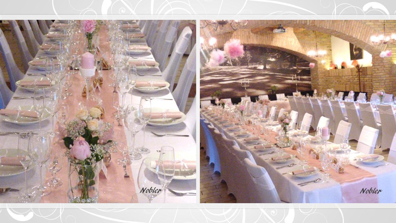Svadobné dekorácie - požičovňa svadobných dekor. - Obrázok č. 1
