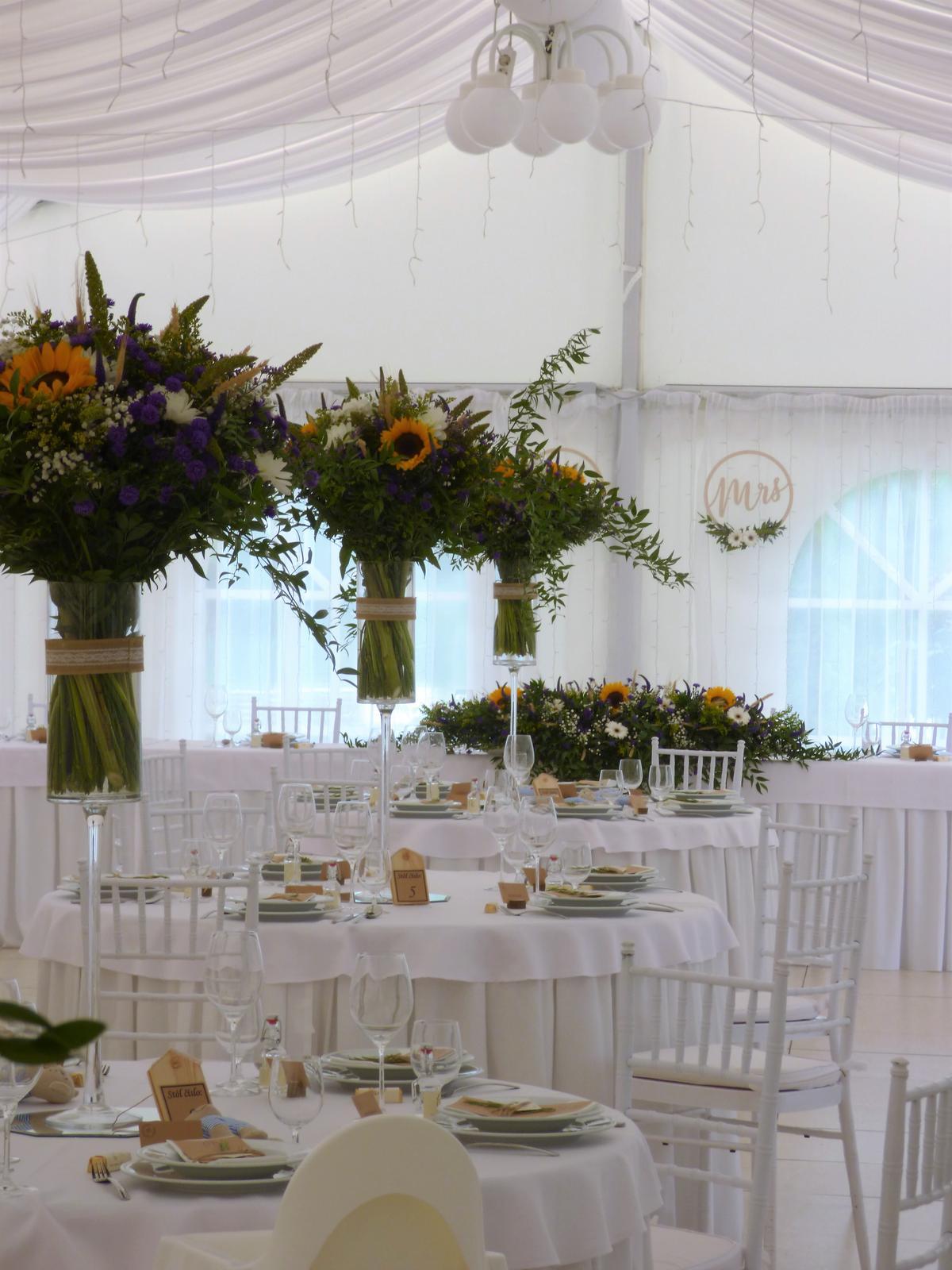 Svadobné dekorácie - požičovňa - Obrázok č. 1