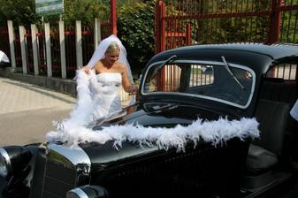 Naše svadobné autíčko...
