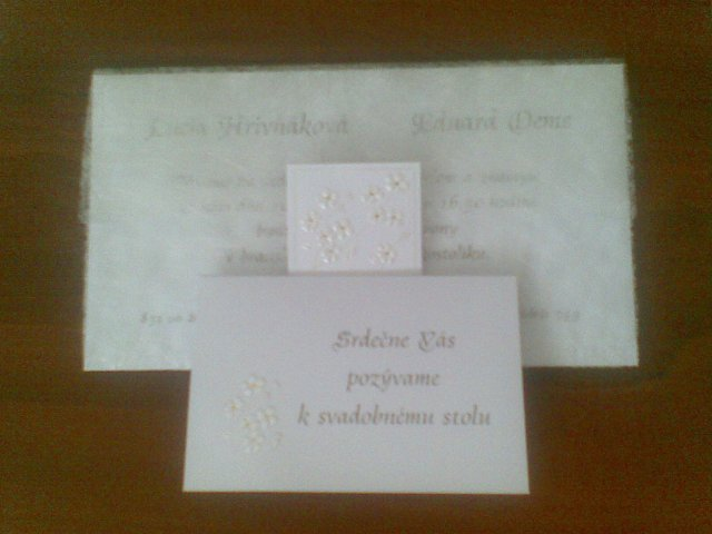 Edko a Lucka 19.9.2009 :-) - pozvánka k stolu