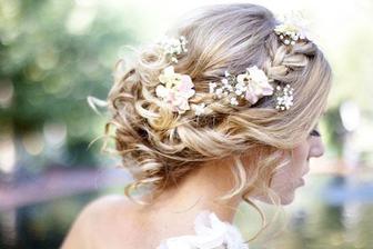 Nádherný účes pro blondýnky :)))) Krásně udělané kytičky :))