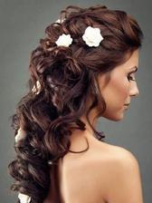 Hezky řešený hořejšek, květiny a spodek vlasů bych volila jinak :)