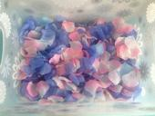 Plátky růží - textilní,