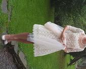 krátke svadobné šaty, 38