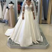 Svadobné šaty značky Crystal design, 36