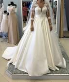 Svadobné šaty Crystal design, 36