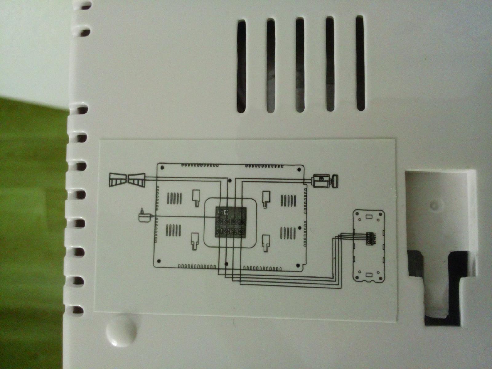 Schema z vnutornej jednotky - Obrázok č. 1