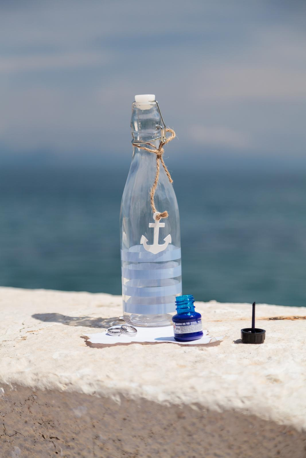 Skleněná lahev dekorační těsnící - Obrázek č. 1