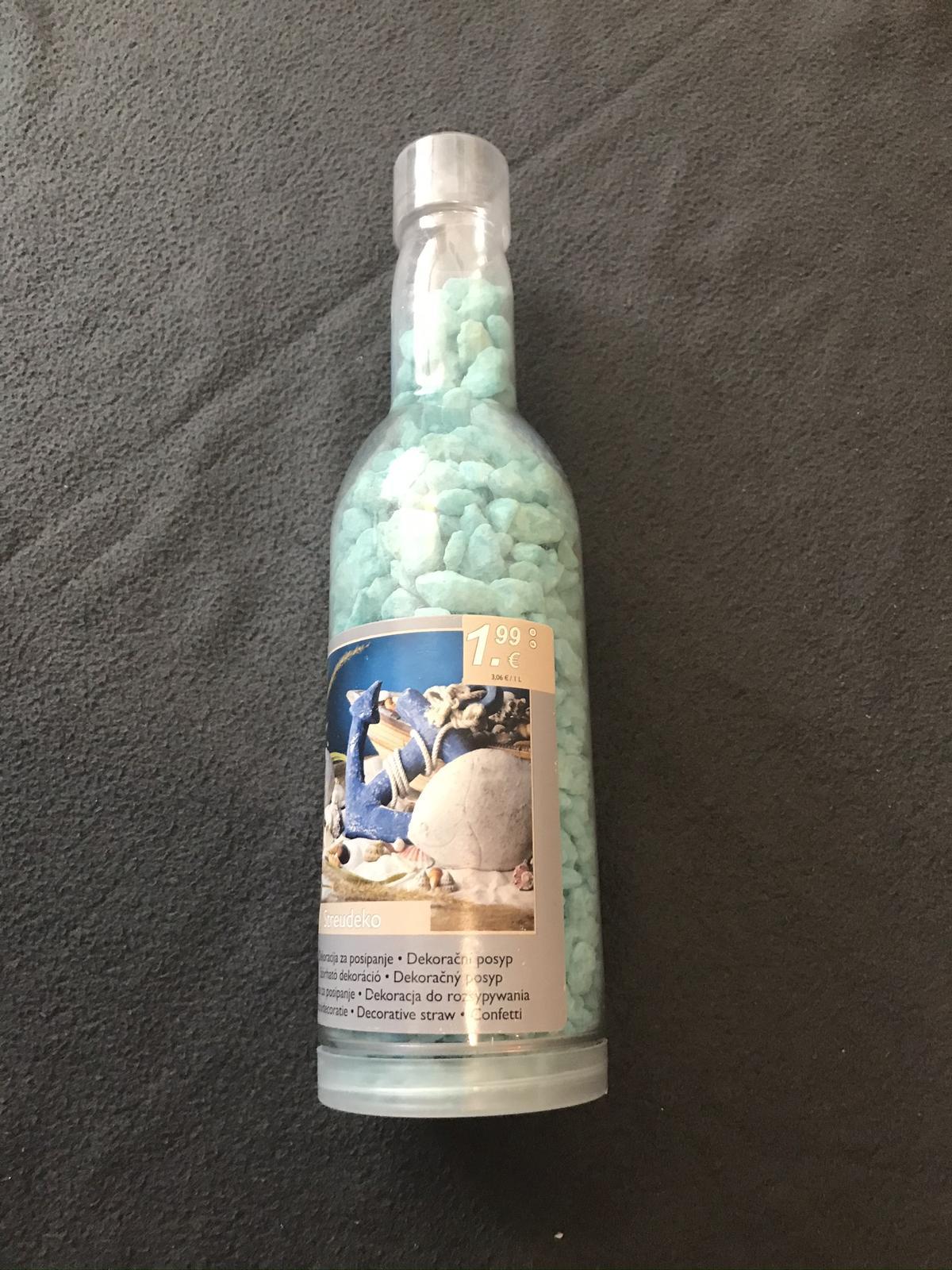 Dekorační písek modrý (1,1 kg) - Obrázek č. 3