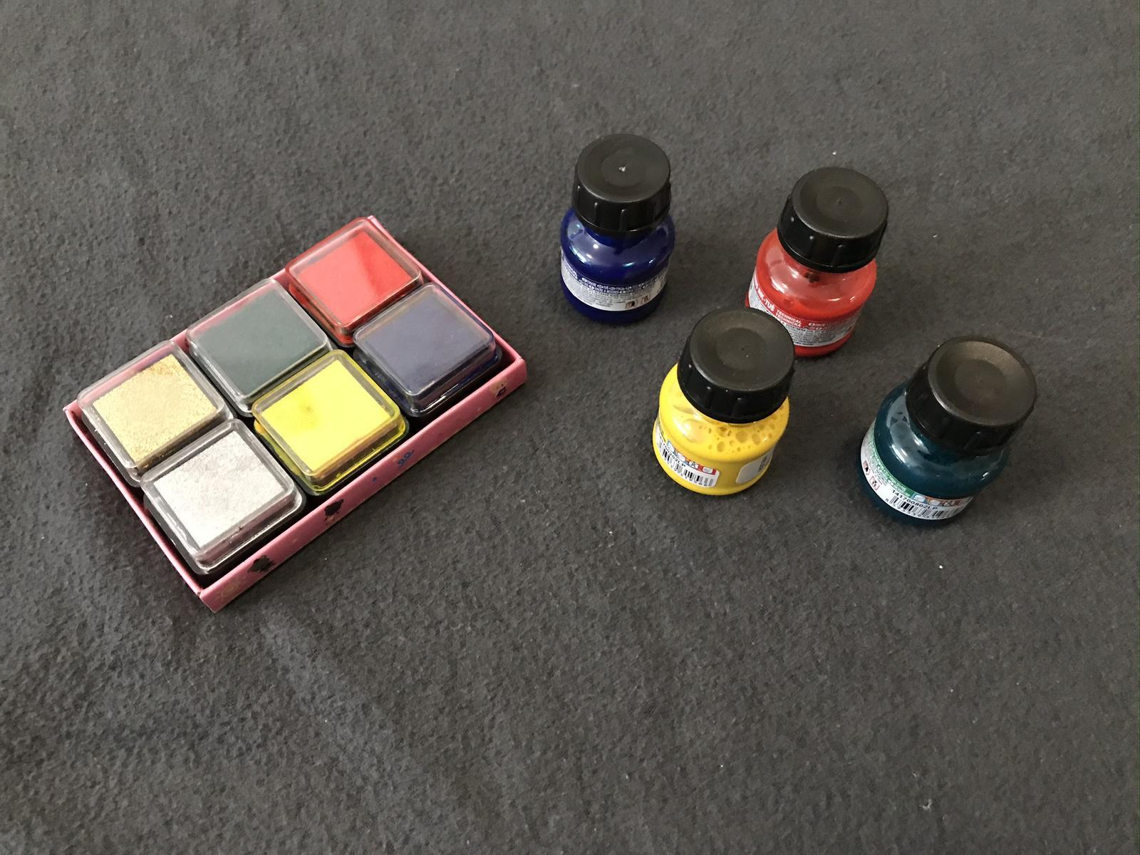 Razítkovací polštářky barevné + tuše - Obrázek č. 1