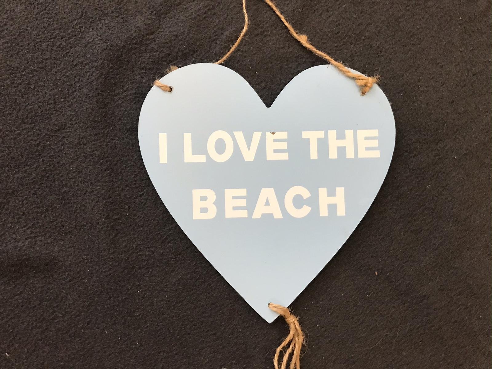 Zavěsitelné dřevěné modré srdce s motivy moře - Obrázek č. 2