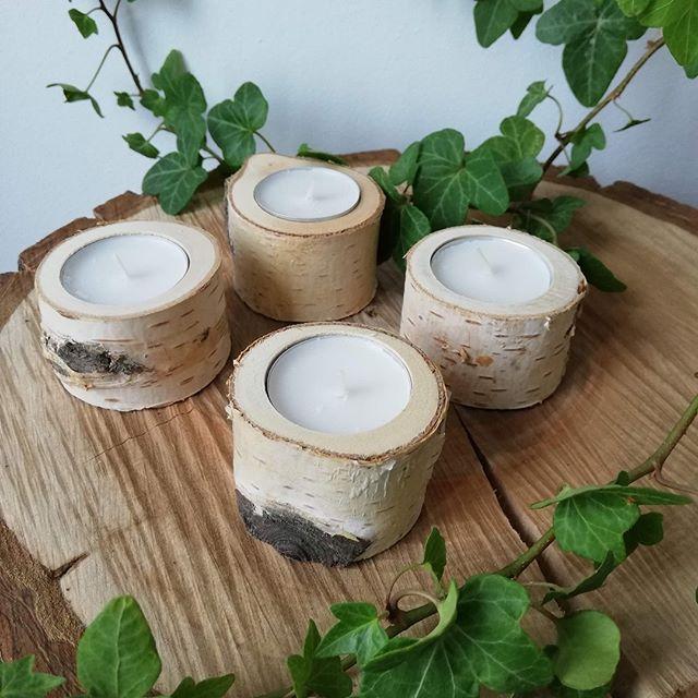 Svícny na čajové svíčky z břízy - Obrázek č. 1