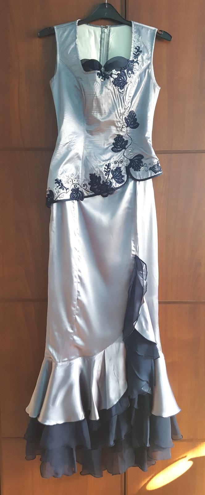 Plesové šaty ručně vyšívané dle japonského stylu - Obrázek č. 1
